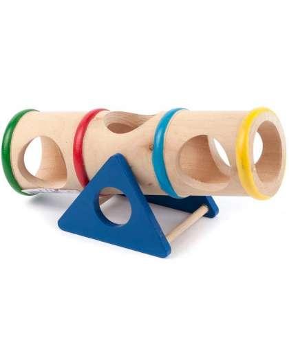Игрушка для грызунов Тоннель YM74143 код 089123 деревянная 16.5*7.5*8 см