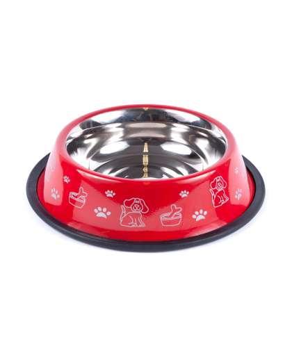 Миска для собаки 55201CN-32 код 156009 металлическая 25.5*25.5*6 см
