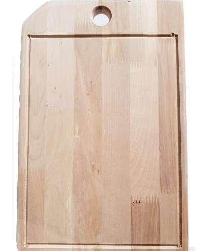 Доска разделочная кухонная деревянная 350*235*20 мм