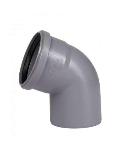 Отвод  полипропиленовый для внутренней канализации 67 градусов 110 мм, Ostendorf