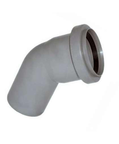 Отвод полипропиленовый для внутренней канализации 45 градусов 50 мм, Ostendorf