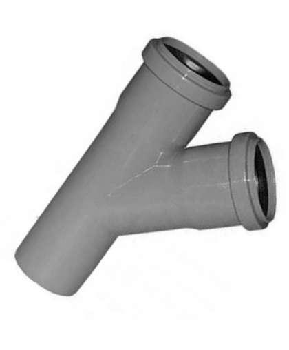 Тройник полипропиленовый для внутренней канализации 45 градусов 32/32 мм, Ostendorf