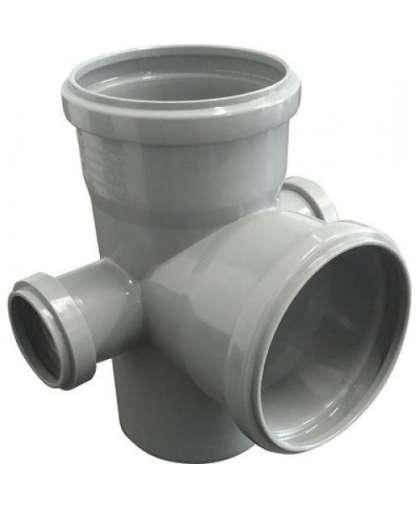 Крестовина двухплоскостная для внутренней канализации 87 градусов 110/110/50/50 мм, РосТурПласт