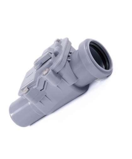 Обратный клапан для внутренней канализации 50 мм, РосТурПласт