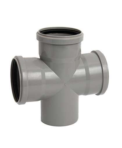 Крестовина двухплоскостная для внутренней канализации 90 градусов 110/110/110/110 мм, Ostendorf
