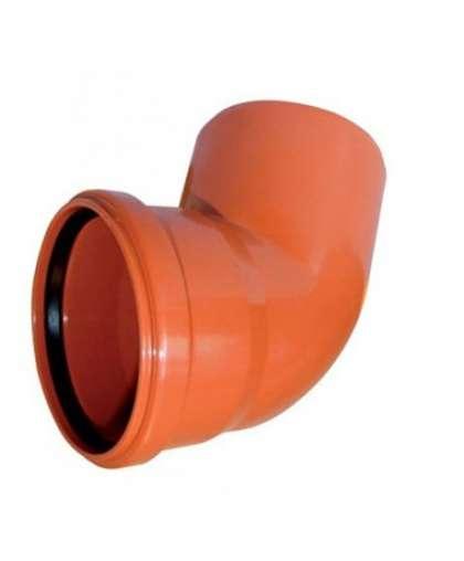 Отвод ПВХ для наружной канализации 45 градусов 110 мм, Ostendorf