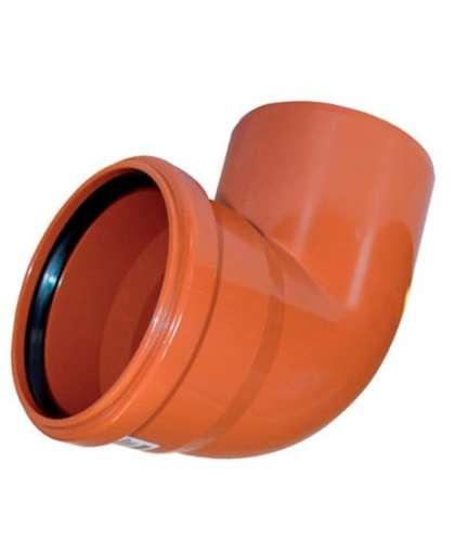 Отвод ПВХ для наружной канализации 87 градусов 110 мм, Ostendorf
