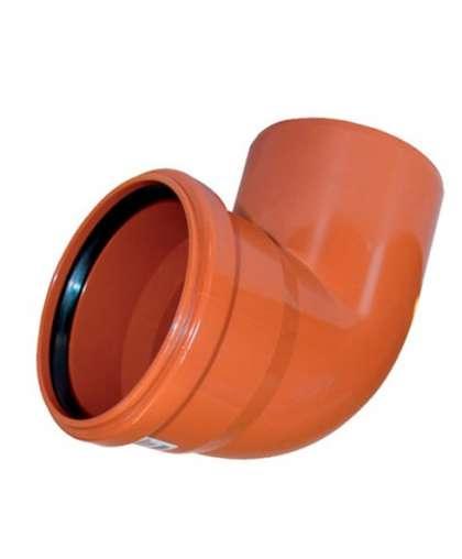 Отвод ПВХ для наружной канализации 87 градусов 200 мм, Ostendorf