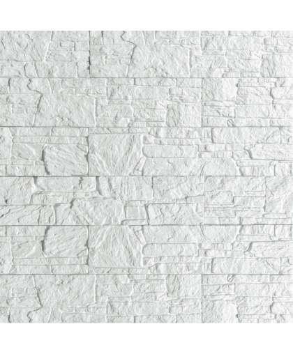 Плита гипс.дек.Сланец Буковинский белый ПГД-1-Л, арт. 1300 (0,6м2)