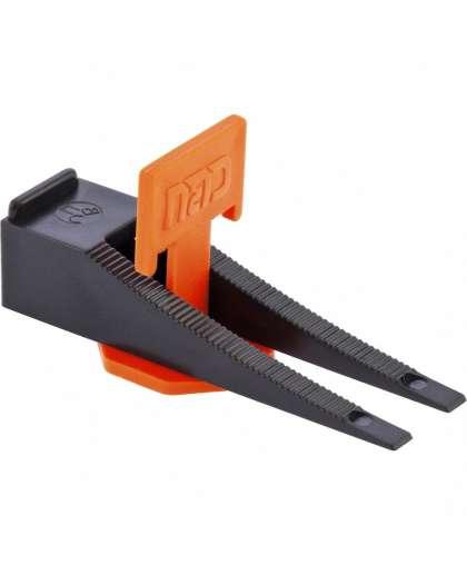 Система выравнивания плитки СВП №1 Клин 50 шт + Зажим 1,5 мм 125 шт