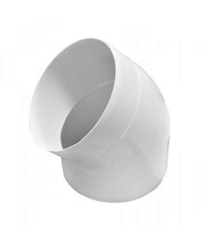 Колено круглое 12.5ККП45 D125мм 45 градусов, ЭРА