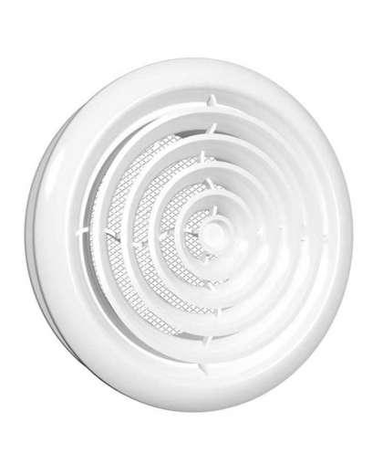Диффузор приточно-вытяжной со стопорным кольцом и фланцем 10DK D100 мм, Эра