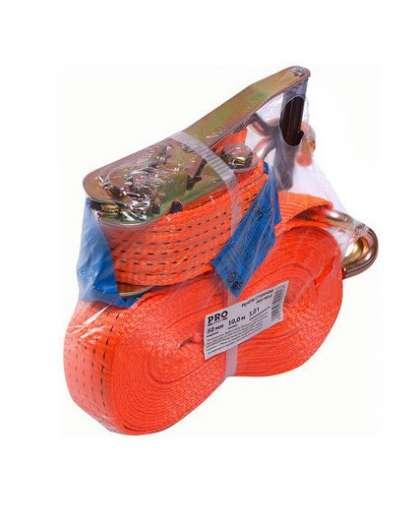 Ремень стяжной с крюком 3т, 10м PRO PRO-9010