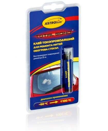 Клей токопроводящий Astrohim Ac-9101 для ремонта нитей обогрева стекол 2 мл