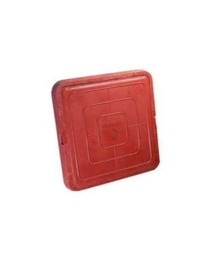 Люк Standartpark Л6 665*665*60 мм полимерно-композитный легкий квадратный красный
