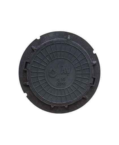 Люк лёгкий садовый А15 (15 кН) черный