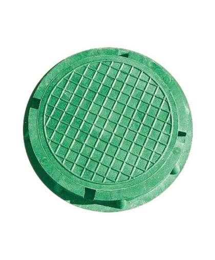 Люк полимерно-композит. круглый садовый малый зеленый 450х60, Л9