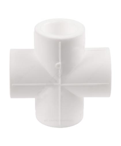 Крестовина PP-R Дн 20 белый, Valfex