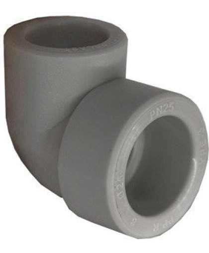 Колено ПП 20*90 внутренне-наружное серый