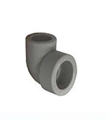 Колено ПП 25*90 внутренне-наружное серый