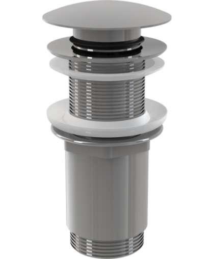 Водослив для умывальника click/clack Alcaplast A3925/4 цельнометаллический с большой заглушкой