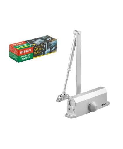 Доводчик дверной гидравлический Волат 35012-60 20-60 кг серебро