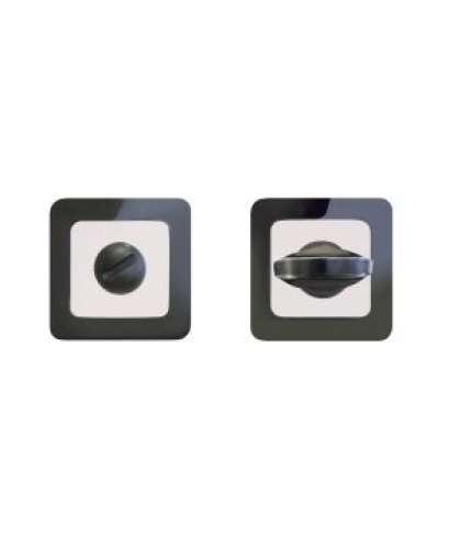 Завертка сантехническая к ручкам Аллюр АРТ BK-S1 BN/CP 41102 черный никель/хром 11457