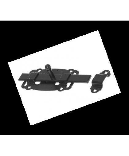 Задвижка дверная Starfix SMP-35343-1 100 мм плоская черная матовая