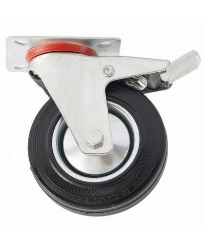 Колесо поворотное с тормозом 68723 d-160 мм, крепление платформенное, СИБРТЕХ