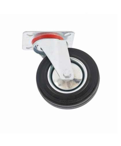 Колесо  поворотное d-125 мм, крепление платформенное,  СИБРТЕХ