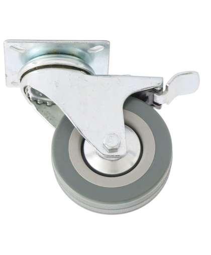 Колесо поворотное с тормозом d-100мм, крепление  платформенное // СИБРТЕХ 68721