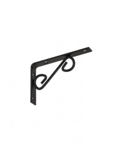 Кронштейн декоративный прямой Domax WOP 150 C 150*100 мм черный
