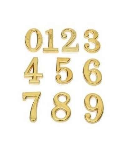 Цифра дверная 0-9 Аллюр золото