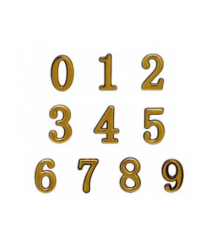 Цифра дверная 0-9 Аллюр большая золото