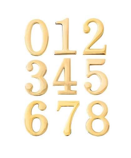 Цифра дверная 0-8 Apecs золото