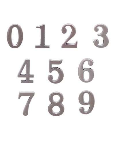 Цифра дверная Аллюр 0-9 хром в ассортименте