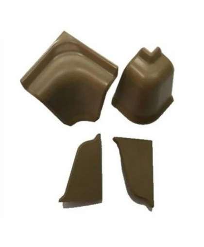 Комплект аксессуаров к плинтусу AKS LP (60) коричневый