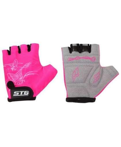 Велоперчатки STG Х61898-ХC розовые