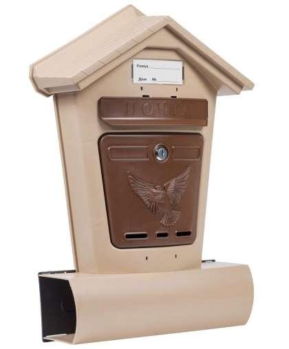 Ящик почтовый Элит 7454 6866-00 (10) бежевый с коричневым