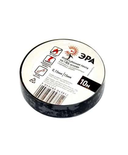 Изолента ПВХ ЭРА 15 мм*10 м черная 3812