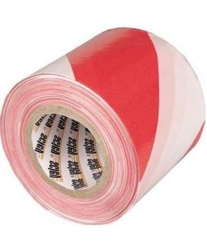 Лента оградительная бело-красная 200