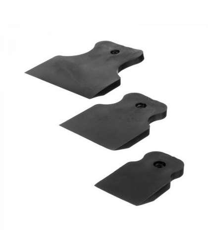 Набор шпателей 40,60,80 мм черная резина 3 шт, Remocolor