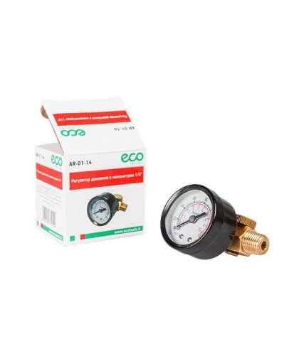 Регулятор давления ECO AR-01-14 с манометром 1/4