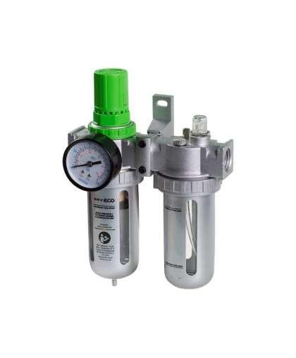 Фильтр воздушный ECO  AU-02-14 с регулятором давления и маслораспылителем