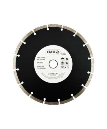 Алмазный круг Yato 230*22,2 сегментный YT-6005