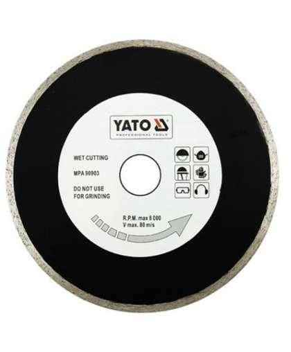 Алмазный круг Yato 180*25,4 сплошной YT-6016