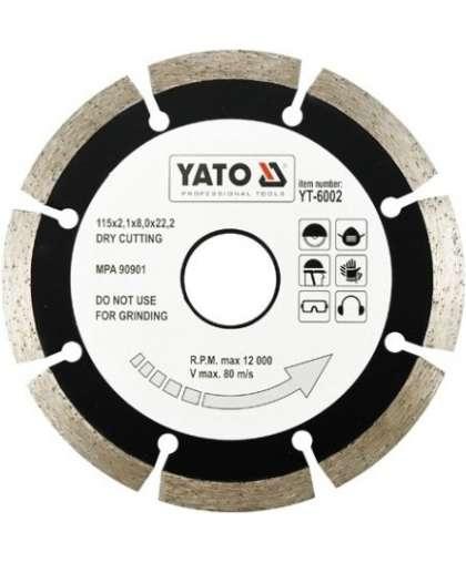 Алмазный круг Yato 115*22,2  сегментный YT-6002