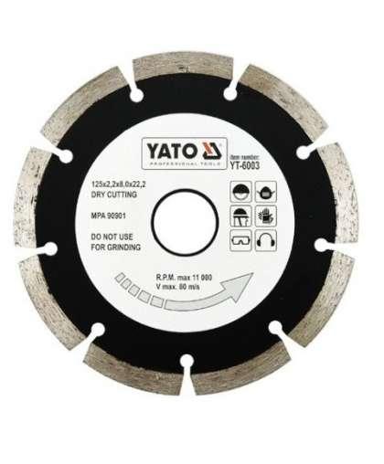 Алмазный круг Yato 125*22,2 сегмент YT-6003