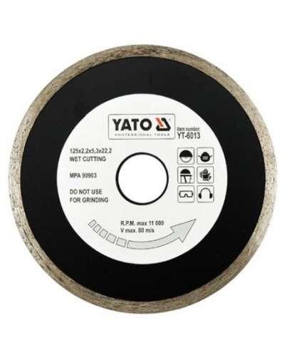 Алмазный круг Yato 125*22,2 сплошной YT-6013