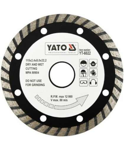 Алмазный круг Yato 115*22,2 турбо YT-6022